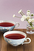Two cups of fruit tea