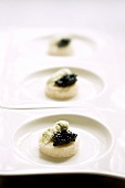 Amuse bouche with caviar