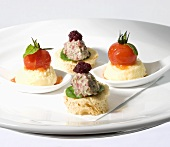 Canapés for afternoon tea