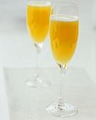 Buck's Fizz (Champagne with orange juice)