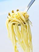 Spaghetti auf Spaghettiheber