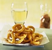 Deep-fried onion rings