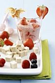 Strawberry tofu cream