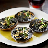 Portobello mushrooms with garlic