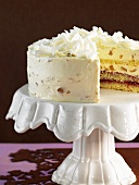 White chocolate ginger cake