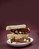 Light and dark chocolate fudge