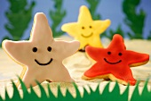 Coloured starfish biscuits