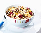 Berry muesli in a bowl
