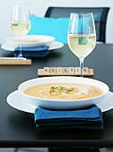 Cold melon soup with white wine