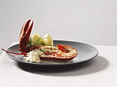 Lobster with butter sauce and horseradish