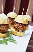 Gravy meatball sliders (Meatball sandwiches)