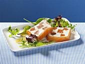 Salmon and cream cheese terrine