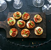 Tomato and mozzarella pizza appetisers