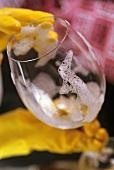 Washing up a wine glass