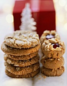 Several ginger biscuits and peanut biscuits