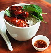 Chicken with black bean sauce and sweet basil