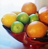 Citrus fruit in a decorative fruit bowl