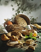 Still life with various types of bread