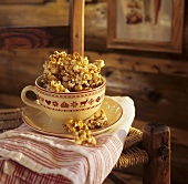 Popcorn with maple syrup