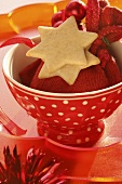 Star biscuits in a bowl