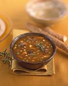 Beef, barley and vegetable soup