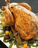 Roast chicken on sage