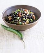 Black beans with green chilli