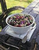Gemischter Salat mit Blauschimmelkäse
