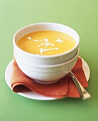 Orange and pumpkin soup with ginger
