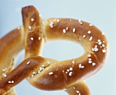 Salted pretzel (close-up)