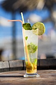 Mojito (Rum cocktail with mint and lime)
