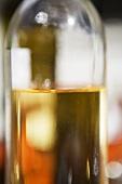 White wine in a plain bottle