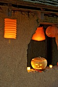 Lanterns and pumpkins for Halloween