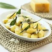 Gnocchi with sage and cheese shavings