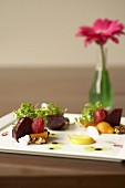 Appetiser plate with beetroot