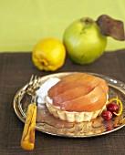 A quince tart