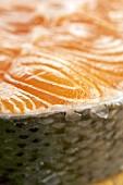 Detail of a salmon steak