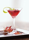 Cranberry and whisky cocktail