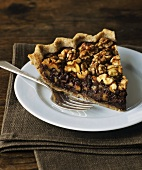 A piece of pecan pie for Thanksgiving