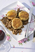 Lamb cobbler (Lamb ragout with scone topping)