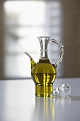Olive oil in a carafe