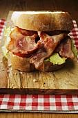 Smoked bacon sandwich