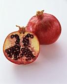 A Whole and Half Pomegranate