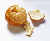 A Partially Peeled Tangerine