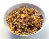 A Bowl of Muesli with Dried Fruits