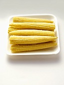 Ears of Baby Corn in a Tray