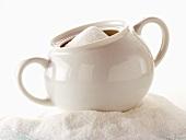 A Sugar Bowl with Granulated Sugar