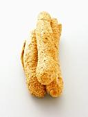 Three Rolled Sesame Bread Sticks