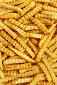 Crinkle Cut French Fries (Full Frame)