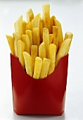 French Fries in Red Fast Food Container